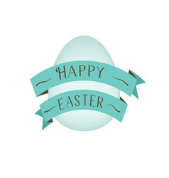 greeting card template for spring and easter with vector image