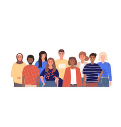 group multiracial people team vector image