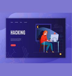 hacker concept banner vector image