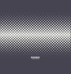 halftone rhombus pattern abstract geometric vector image