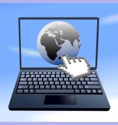hand cursor clicks vector image vector image