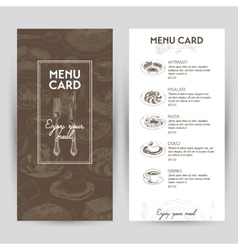 Hand drawn with italian food vector