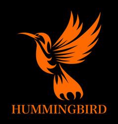 Humming 2 black bg vector