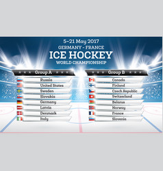 Ice hokey world championship 2017 vector