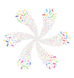 Infinity twirl abstract flower vector