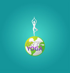 international day of yoga vector image