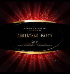 Invitation merry christmas party 2021 vector