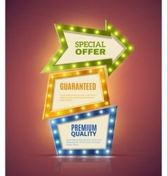 Light Premium Banners Set vector image