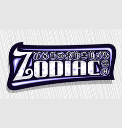 Logo for zodiac vector