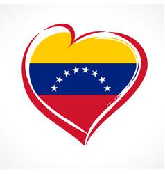 love venezuela emblem colored vector image