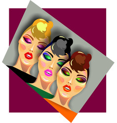 Makeup for three vector