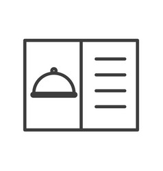 menu for restaurant simple food icon in vector image