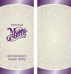 Menu Template6 vector image