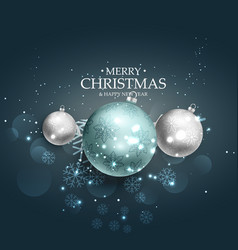 merry christmas beautiful background design with vector image