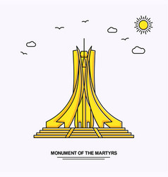 Monument of the martyrs monument poster template vector