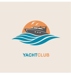 Motorboat icon image vector
