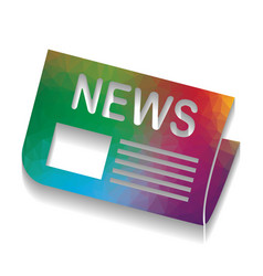 newspaper sign colorful icon with bright vector image