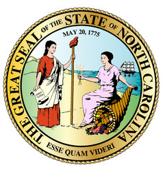 North carolina state great seal vector