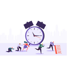 office deadline business characters competition vector image