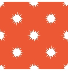 Orange starburst pattern vector image