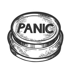 Panic button engraving vector