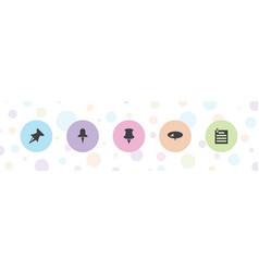Pushpin icons vector