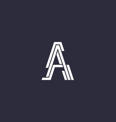 reative letter a from segments and stripes logo vector image