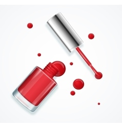 Red Nail Polish vector image
