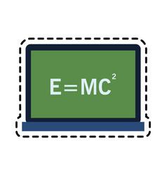 Relativity theory equation math icon image vector