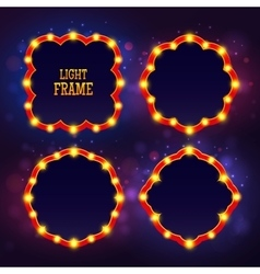 retro frame light vector image