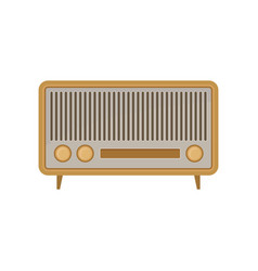 retro radio with three settings knobs vintage vector image