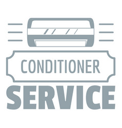 service conditioner logo simple gray style vector image