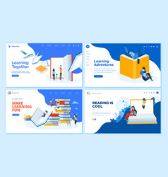 set of flat design web page templates vector image