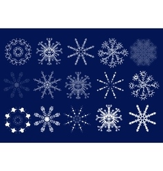 Set of snowflakes Hand draw vector image