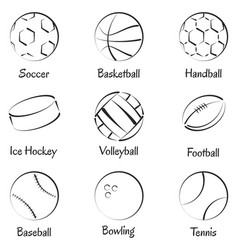 Set of sports equipments vector