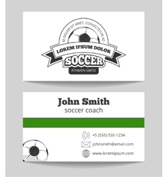 Soccer club business card vector