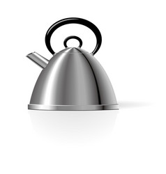 stainless steel kettle design templates vector image