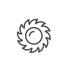 sun line outline icon and light object vector image