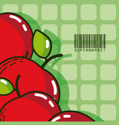 Sweet apples super market products vector