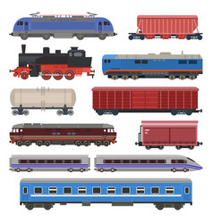 Train railway transport locomotive or wagon vector