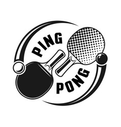 two rackets for ping pong logo concept vector image