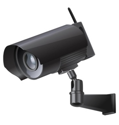 Video surveillance sign CCTV Camera vector