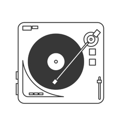 vinyl record player icon vector image