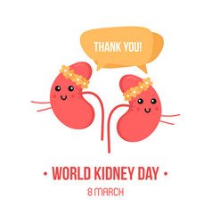 World kidney day card vector