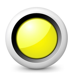 Yellow glossy icon vector image