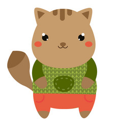 cute cat cartoon kawaii animal character vector image
