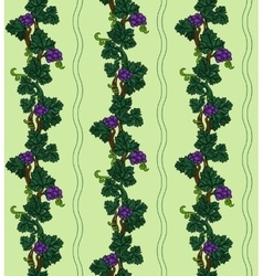 Grapevine seamless pattern vector image