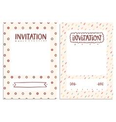 Invitations templates vector image