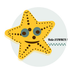 cartoon sea star cartoon vector image