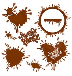 chocolate heart 380 vector image